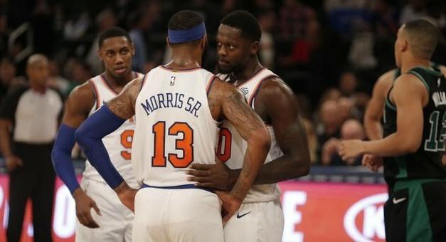 Bottom Falls Out for Knicks in Sloppy Home Opener Loss to Celtics