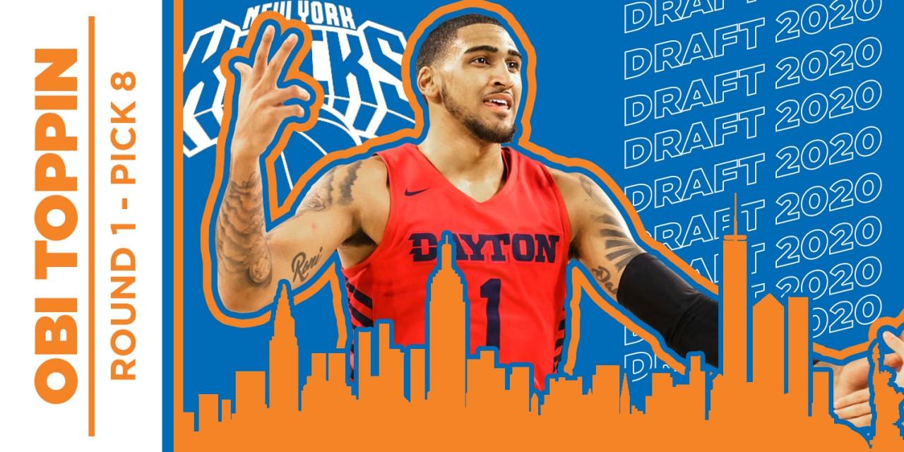 2020 NBA Draft: Knicks Select High-Flyer Obi Toppin at 8