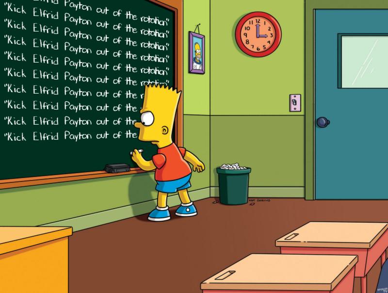 Bart Simpson, Elfrid Payton, Knicks